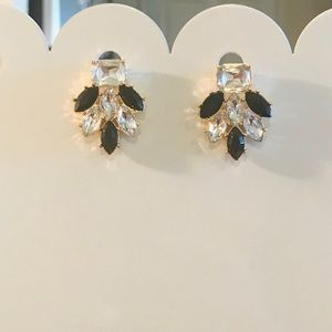 Gorgeous Black & Crystal Fashion Earrings